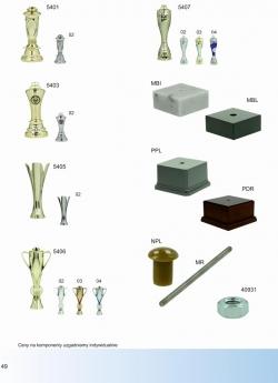 Części, komponenty do nagród sportowych